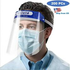 200PCS Face Shield Clear Protector Work Industry Dental Anti-Fog