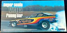 46 year old NHRA 1/16 Aurora Racing Scenes Voodoo Vega Funny Car Model Kit -WOW!