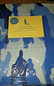 New Pottery Barn Kids BLUE CAMOUFLAGE Crib SHEET toddler bed camo