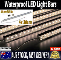 4X 12V 30cms Waterproof Warm White 5630 Led Strip Lights Bars For Car Camping