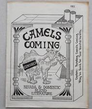 CAMELS COMING #1 Poetry Newsletter Charles Bukowski Richard Morris Lennart Bruce