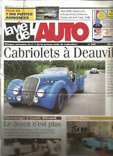 LA VIE DE L'AUTO N°940 CABRIOLETS A DEAUVILLE / HOMMAGE A LOUIS GERARD