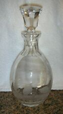 Queen Lace Crystal Rowland Ward American Wildlife Etched Quail Decanter &Stopper
