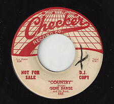 ♫GENE BARGE Country/Way Down Home Checker 839 WLP 1956 R&B 45RPM♫