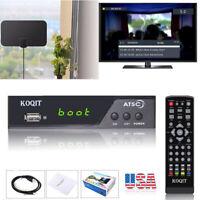 FTA 1080P Digital Terrestrial ATSC Clear Analog Cable TV Tuner Receiver Antenna
