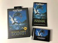 Ecco The Dolphin w/ Original Hard Case & Manual SEGA Genesis 1992 TESTED