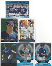6 2011-13 Bowman/Topps Opening Day Insert Lot-Soriano,Mauer,Turner,Myers