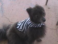 Lil' Dog Fleece Reversible Snuggie - Zebra Stripe - Small