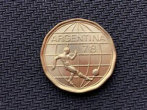 1977 Argentina 50 Pesos Coin UNC +    Soccer Championship     High Grade   #C810