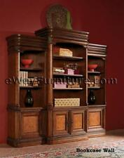 NEW! Vineyard Bookcase Wall Wood Home Office Furniture Napa Style Cherry Finish