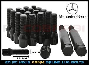 M14x1.5 Mercedes Benz Aftermarket Wheel Lug Bolts Spline Drive Tuner + 2 Keys