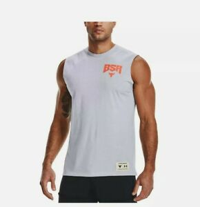 Under Armour Men's Project Rock BSR Sweat Activated Graphic Tank Top 1364744 2XL