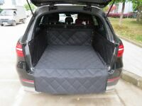 Black Quilted Trunk Boot Liner Mat 100% Waterproof Travel Pet Resistant Quality