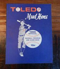 1966 TOLEDO MUD HENS VS JACKSONVILLE SUNS AAA IL MINOR LEAGUE BASEBALL PROGRAM