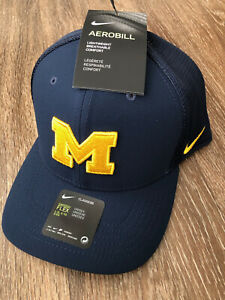 RARE Nike Michigan Wolverines Official Team Hat Cap AV7374-419 L/XL