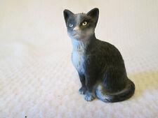 Schleich Sitting Black & White Cat Domestic Tabby Kitty 1997