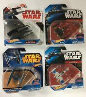 Hot Wheels Star Wars Tie Silencer, Poe's X-Wing, Tie Fighter, Resistance X-Wing