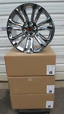 "22"" New GMC Sierra Yukon Factory Spec Chrome Wheels Rims 5666 GS"