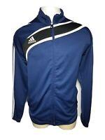 Adidas Clima365 XL Blue White Full-Zip Men's Athletic Track Jacket - Extra Large