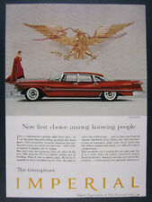 1958 Chrysler Imperial 4-door Sedan Hardtop red car photo vintage print Ad
