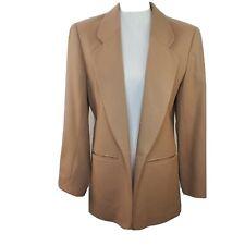 Pendleton Womens 100% Virgin Wool Camel Blazer Size 8