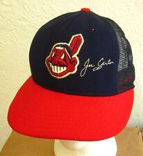 CLEVELAND INDIANS nylon Joe Carter baseball hat Chief Wahoo snapback AJD cap 80s