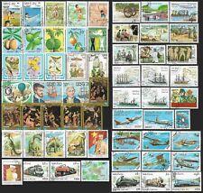 LAOS Timbre Lot de 60 Timbres Oblitéré divers