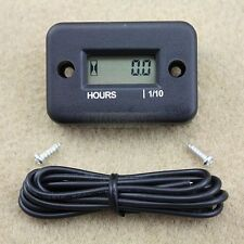 Inductive Hour Meter for Marine ATV Motorcycle snowmobile - Black