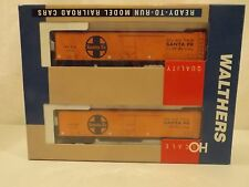 HO Walthers Santa Fe 50' REA reefer car two pack in original box