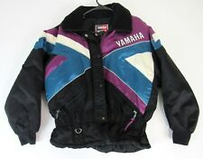 VTG Yamaha Sportswear Checkered Flag Snowmobile Racing Winter Jacket Large