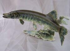 Hutschenreuther Raubfisch Großer Hecht Figurine Figure 1.Wahl Granget 45 cm