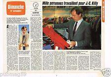 Coupure de presse Clipping 1983 (2 pages) 1000 personnes pour Jean Claude Killy