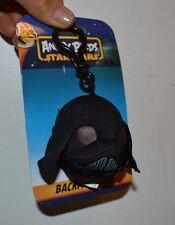 "Angry Birds Star Wars Backpack Clip Plush 3"" Darth Vader"