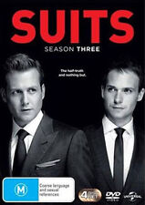 Suits : Season 3 (DVD, 2014, 4-Disc Set) Regions 2,4