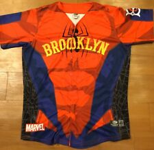 Marvel Brooklyn Cyclones Spiderman Game Worn Jersey! Number 1! Size 46