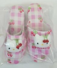 RARE Vtg 1999 Sanrio HELLO KITTY Pink Cotton Ladies WEDGE Sandals Shoes sz M NEW