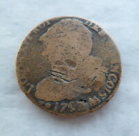 LOUIS XVI FRANCE 2 SOLS 1792/3 AA METZ MINT ANTIQUE FRENCH COIN 18th CENTURY