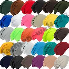 Beanie Mütze Jersey Slouch Beaniemütze Unifarben XL Long Mütze Damen/Herren Neu
