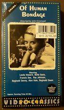 SEALED Of Human Bondage Bette Davis, Leslie Howard VHS cassette video tape NEW