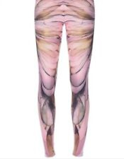 New 285 McQ Alexander McQueen Wing Pink Print Leggings Size XL