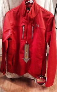 UA Strom Cold Gear Infraed Softer Shell Red Jacket Size Large rare item