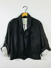 MIKE & CHRIS Dark Brown 3/4 Sleeve Jacket Size Small