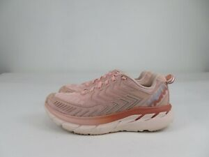 Hoka One One Clifton 4 OV Outdoor Voices Athletic Running Shoes Pink Womens 8