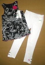 CALVIN KLEIN Girls 2-Piece Floral Chiffon Top & Pants Black White Little Kids 5
