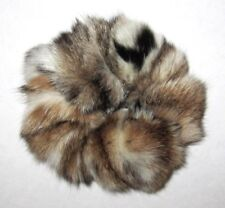 NEW DELUXE LYNX SPOTTED FUR HAIR BAND SCRUNCHIE