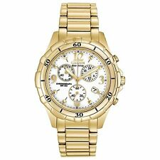 Citizen Eco-Drive Chronograph Gold-Tone White Dial Women's Watch FB1352-52A SD