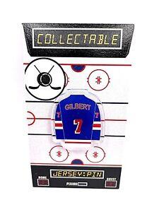 New York Rangers Rod Gilbert jersey lapel pin-Classic BLUE SHIRTS Collectible
