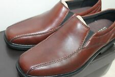Bostonian Flexlite Bolton Men's Slip-On Shoes Brown Leather Dress Shoes 7.5 M