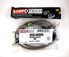 STOPTECH STAINLESS STEEL BRAIDED FRONT BRAKE LINES FOR 93-95 HONDA CIVIC EX / SI