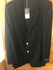 Burberry Blazer Jacket New With Tags Wool Navy Blue Authentic Original Vintage